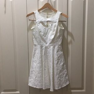 XOXO White Floral Dress